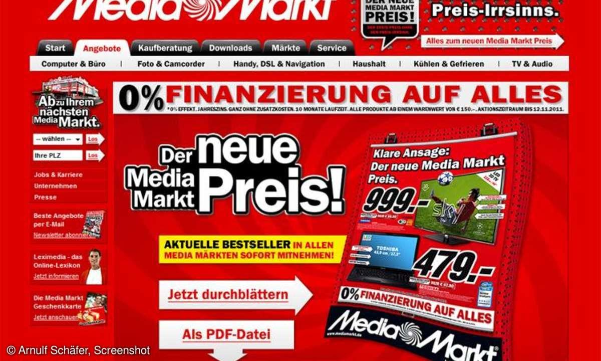 Mediamarkt Flyer, Newsletter KW 44/2011