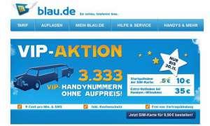Gratis-Wunschnummern bei Blau.de