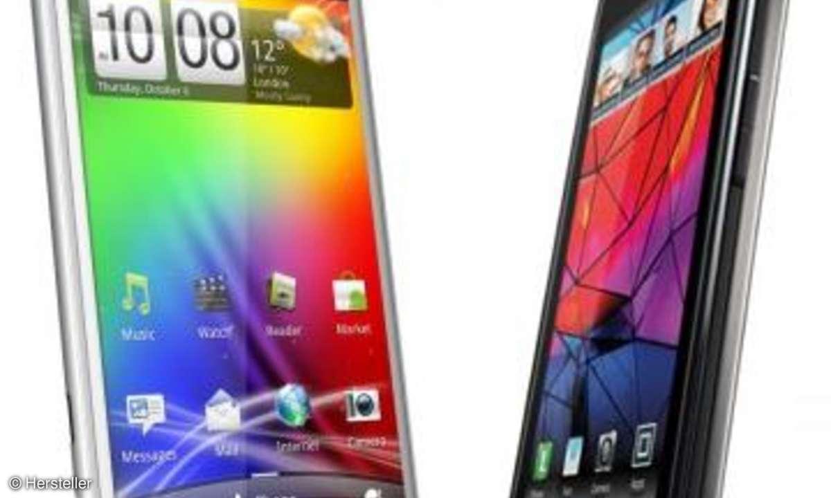 Motorola RAZR versus HTC Sensation XL