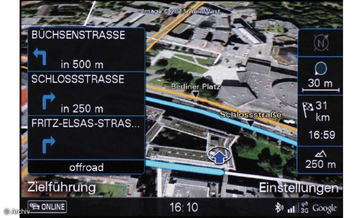 Internet im Auto - Audi