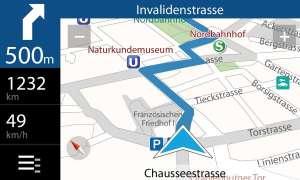 Zielführend: Die klare Darstellung macht die Suche nach Points of Interest in der Stadt zum Vergnügen - übrigens auch für Fußgänger.