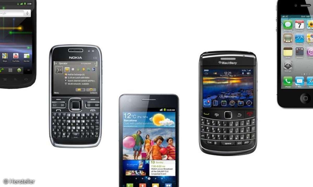 Viele  Deutsche nutzen zwei Handys.