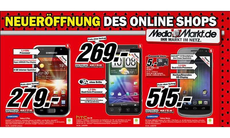 Mediamarkt Online Shop Smartphone Angebote Zur Eröffnung Connect