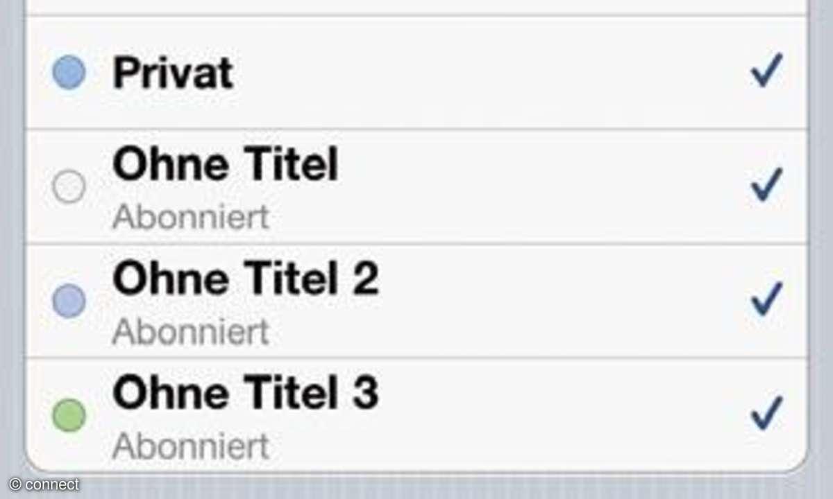 Kalender-Einstellungen auf dem iPhone