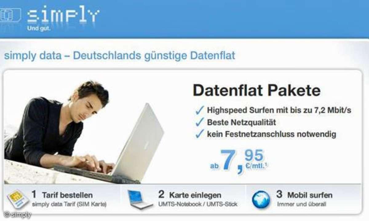 Neuer Simply-Datentarif für iPad und Co