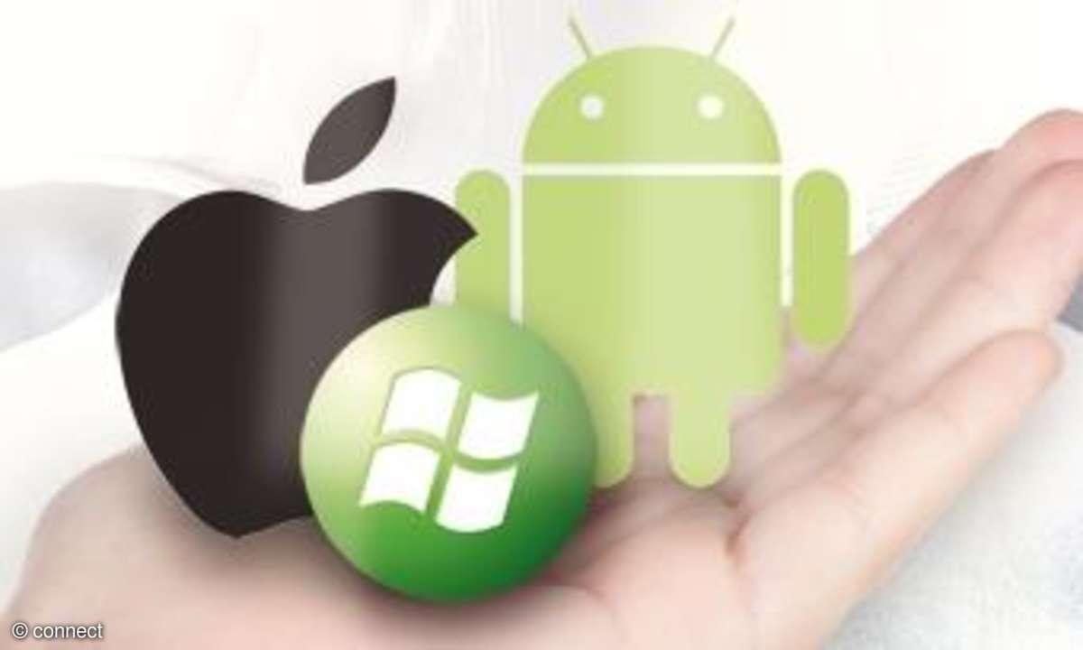 iOS, Android und Windows Phone im Vergleich