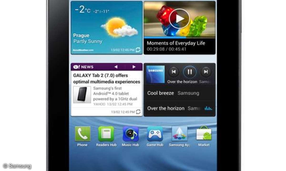 Das Samsung Galaxy Tab 2 7.0 hat ein 7-Zoll-Display
