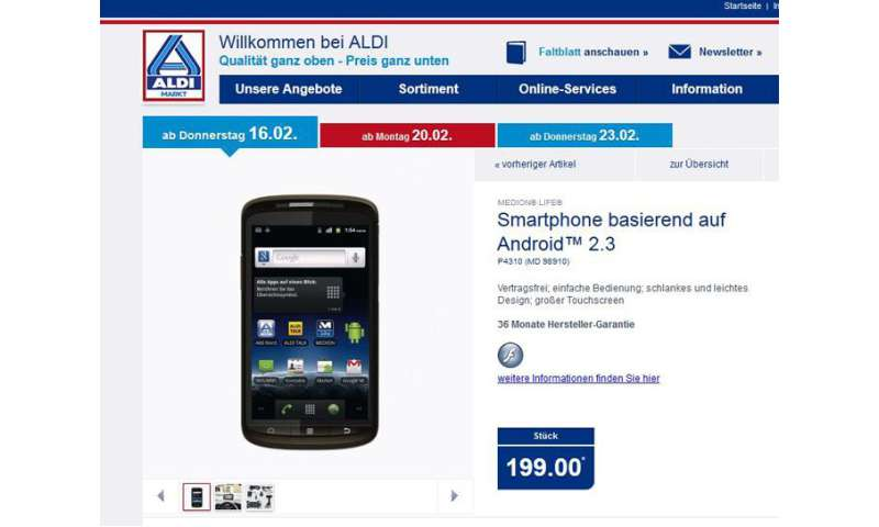 how to connect to aldi phone