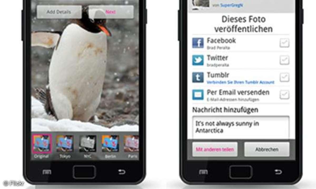 Die neue Flickr-App für Android kann Deutsch