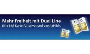 O2 Dual-Line: Eine SIM-Karte für zwei Telefonnummern