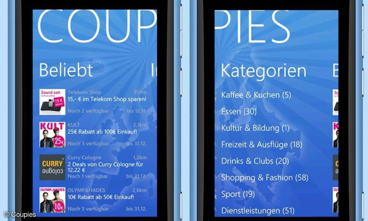 Coupies-Coupons jetzt auch für Nokia und Windows-Smartphones