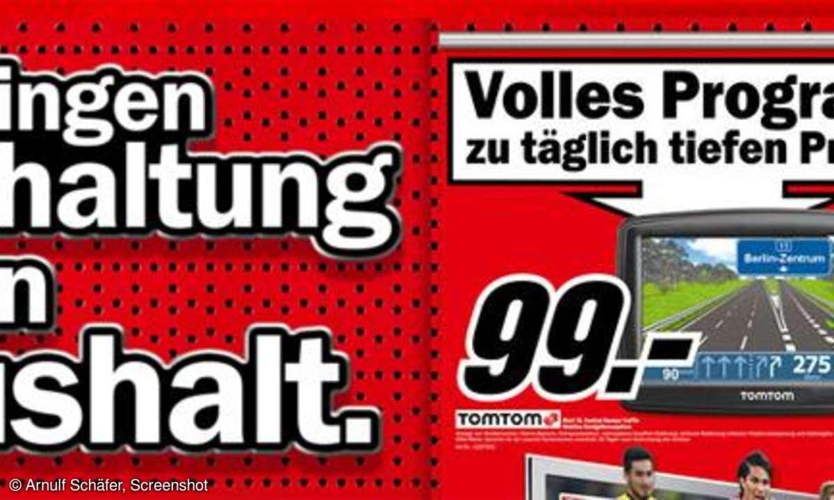 Tomtom-Navi jetzt für 99 Euro beim Mediamarkt
