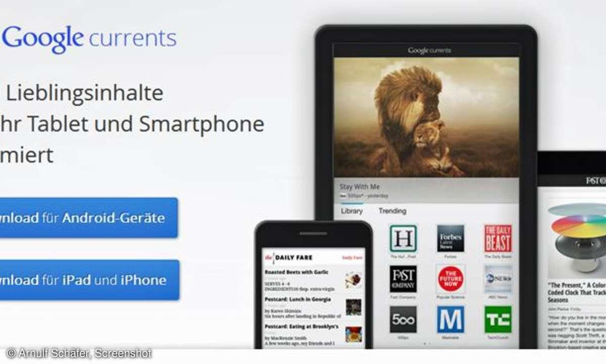 Google Currents, Medien-App
