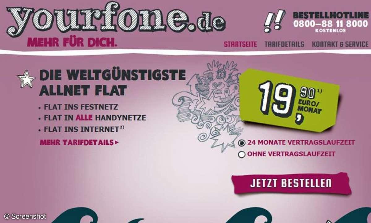 Yourfone.de, Allnet Flat
