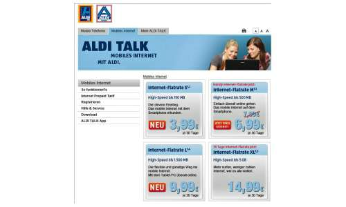 Aldi Talk Internet Flat ägypten