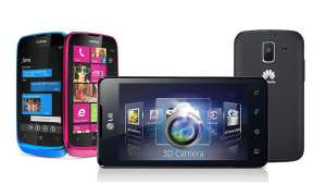 Lumia 610, LG 3D max, Huawei Ascend Y200