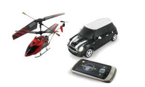 Beewi Helicopter und Mini Cooper S