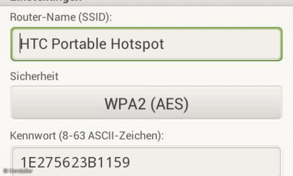 HTC One V als WLAN-Hotspot