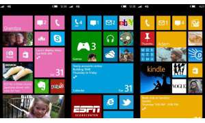 Microsoft Windows Phone 8, Startscreen