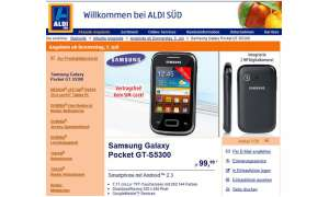 Aldi-Aktion: Samsung Galaxy Pocket für 99,99 Euro