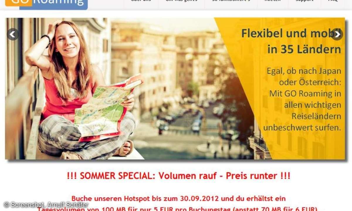 Go Roaming Aktion: Surfen im Ausland für 5 Euro pro Tag