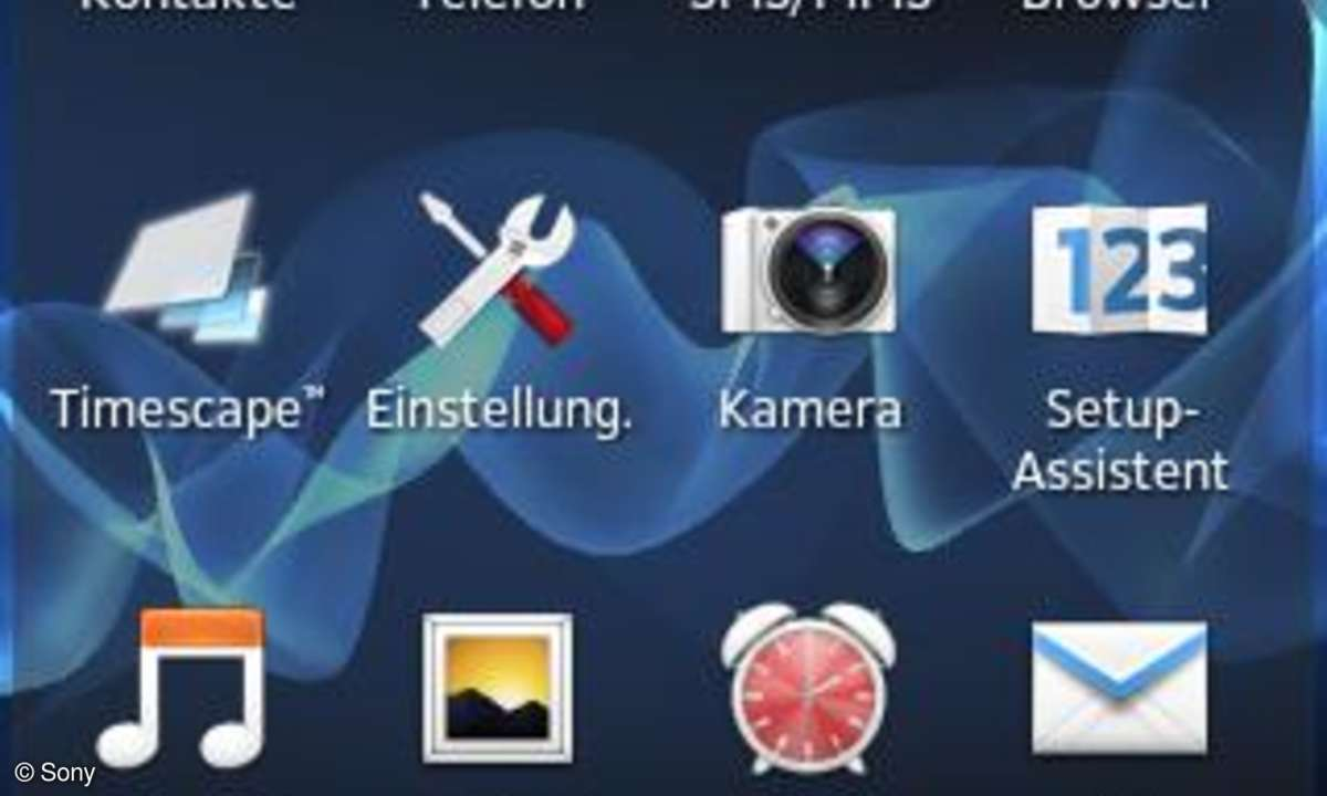 Sony Xperia Go Screenshot