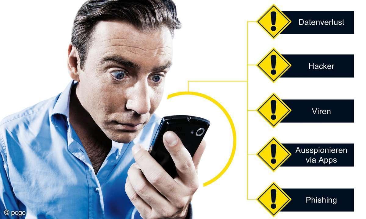 Wenige Smartphone-Besitzen haben kein Virenprogramm.