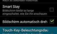 Galaxy S3: Tastenbeleuchtung einstellen