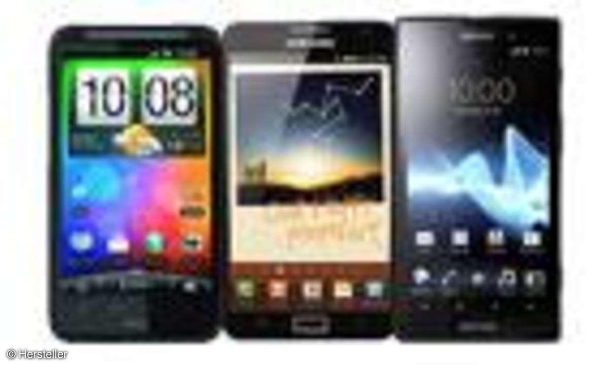 HTC Desire HD, Galaxy Note, Xperia Ion
