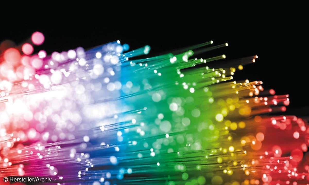 glasfaser, bunt, datenübertragung