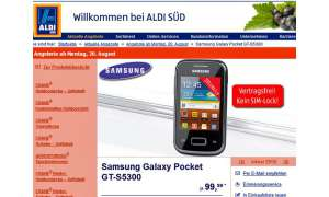 Samsung Galaxy Pocket, Aldi Smartphone-Angebot
