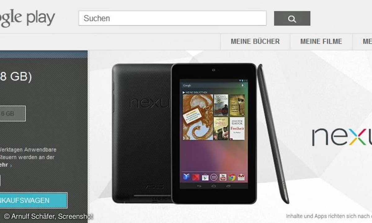 Google Nexus 7: Jetzt auch in Deutschland erhältlich