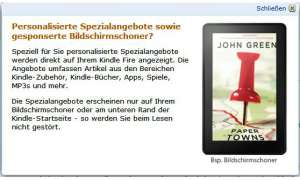 Amazon Kindle Werbung