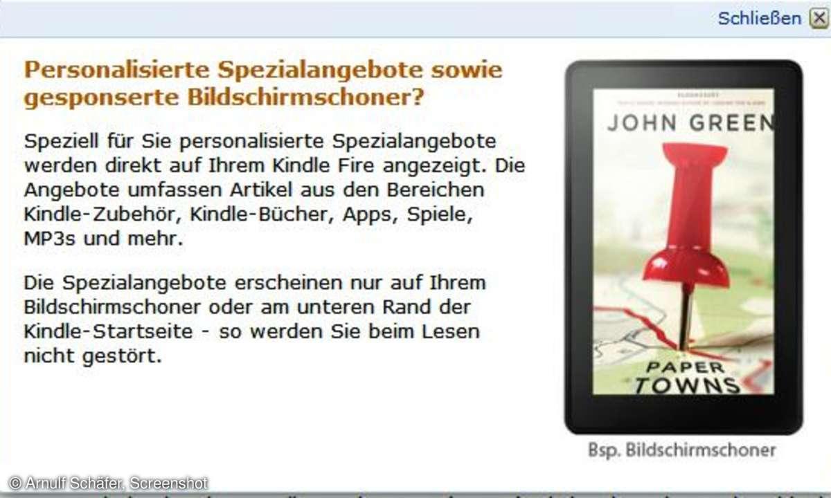 Amazon Kindle Werbung