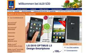 Aldi Süd Aktionsangebot, LG Optimus L5