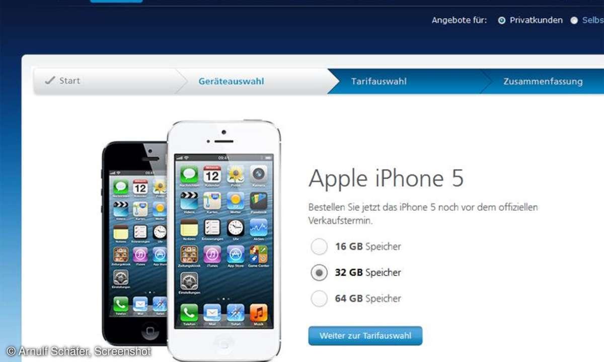 Apple iPhone 5 O2 Germany