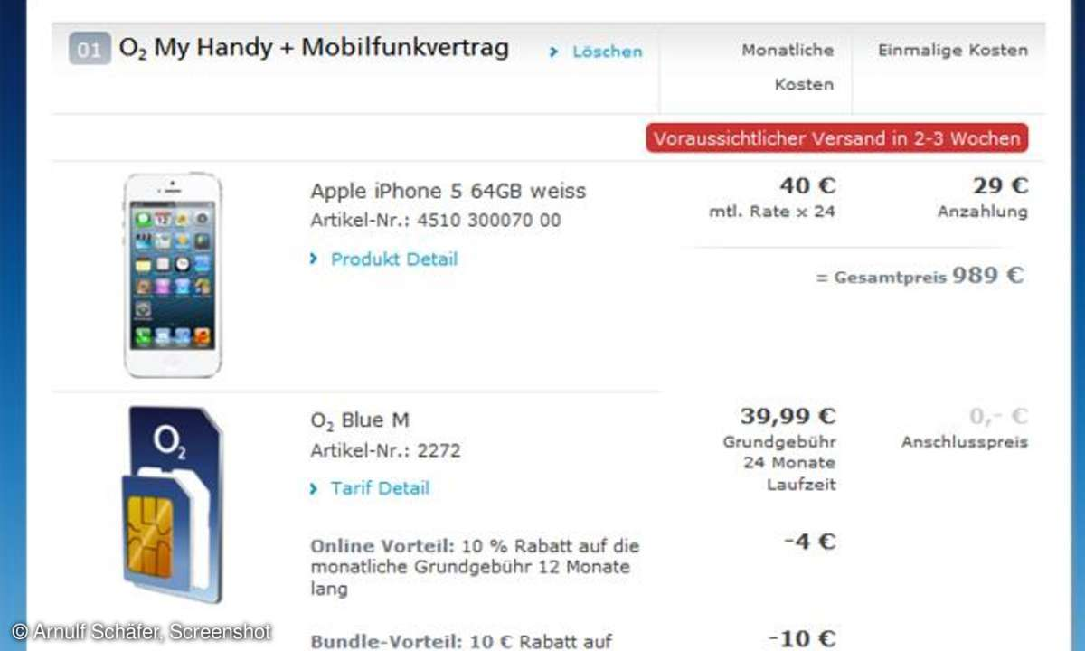 Apple iPhone 5 O2 Germany,