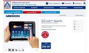 Aldi Nord Aktion, Medion Tablet