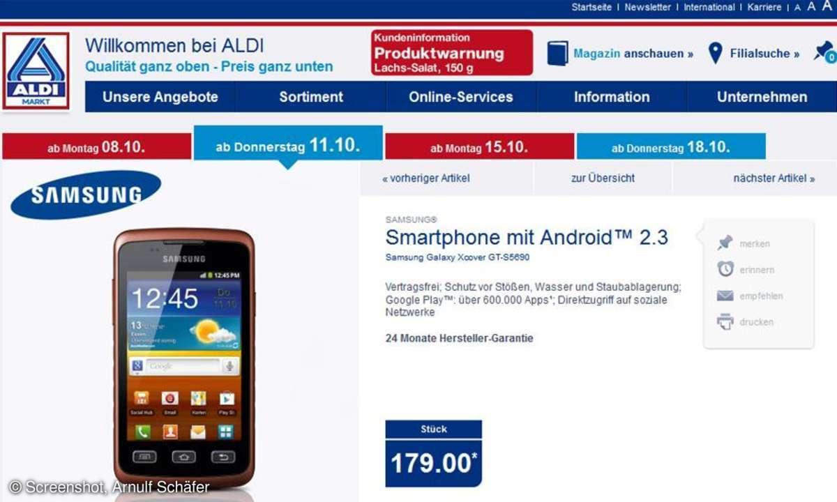 Aldi Nord Aktion, Samsung Galaxy XCover