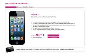 Das Apple iPhone 5 bei der Telekom als Tarifbundle