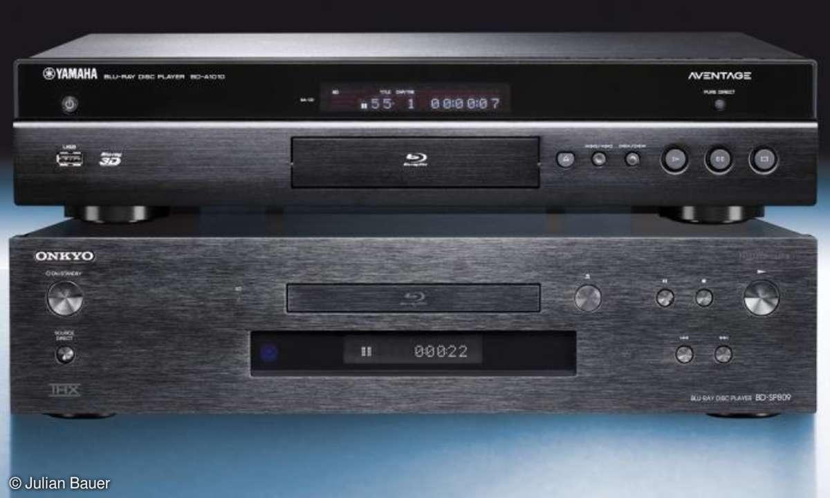 Blu-ray-Player von Onkyo und Yamaha im Vergleich