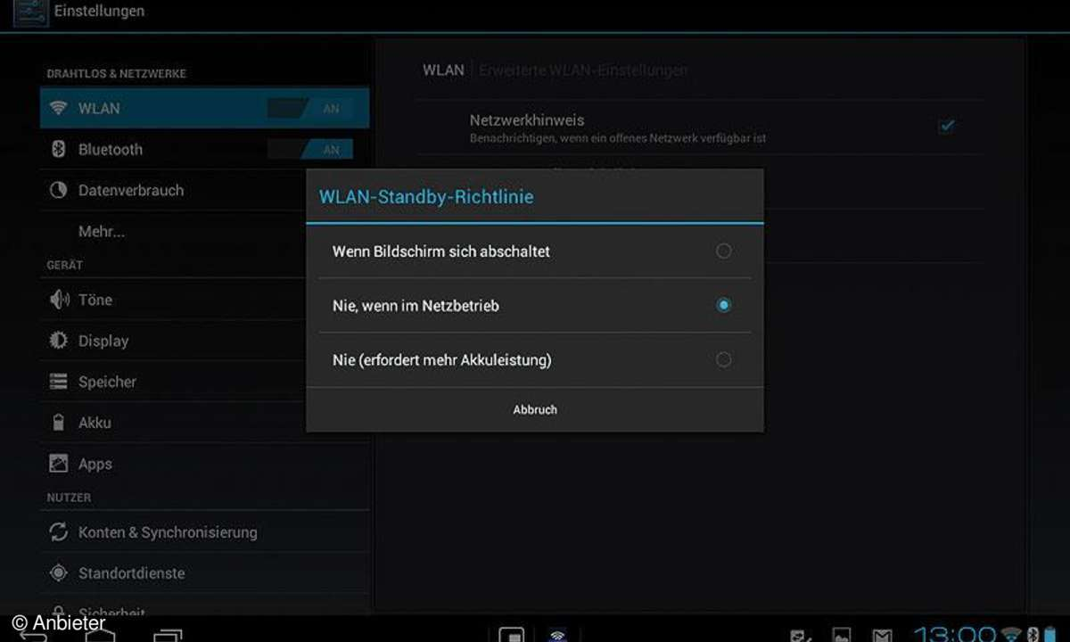 Android 4.0 für Tablets