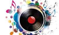 platte, vinyl, musik, noten