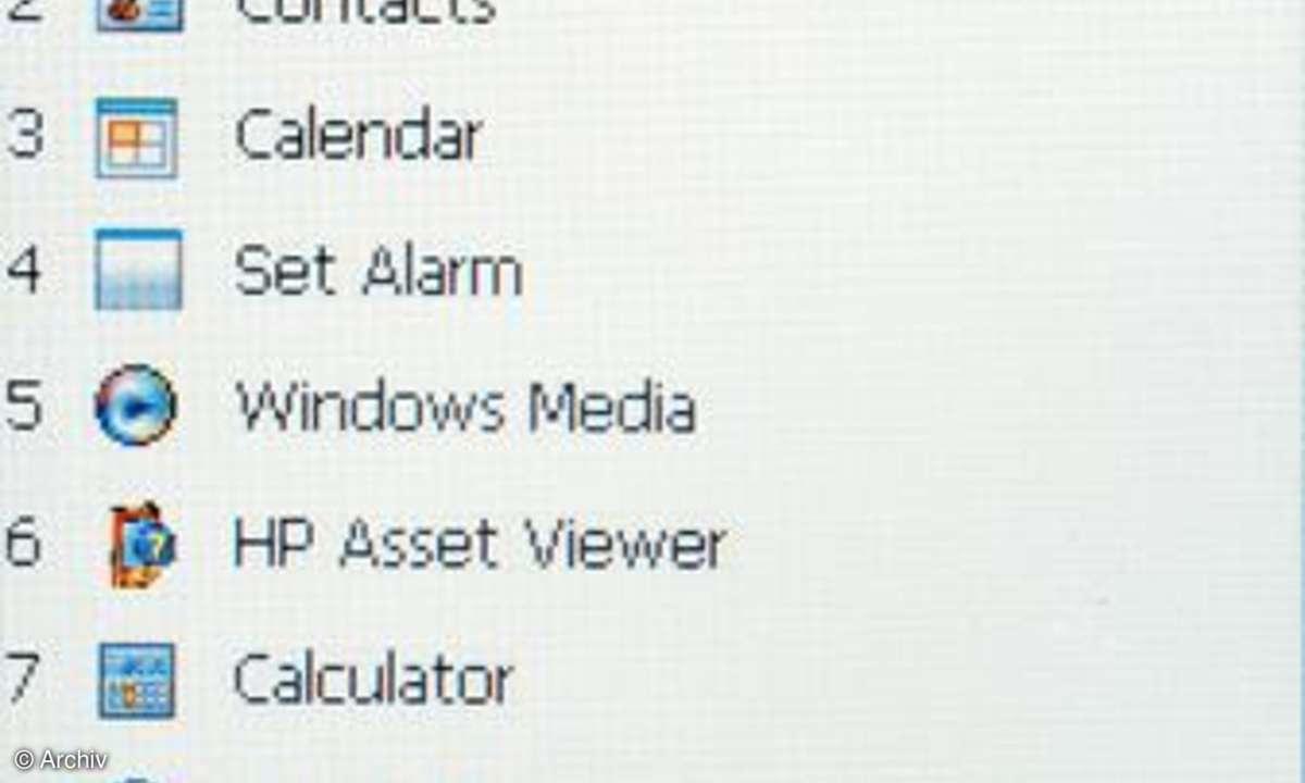 Einstellungsfreiheit beim HP iPAQ 614c