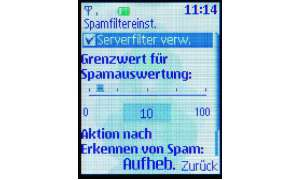 Spamfilter im Nokia 3110 Evolve
