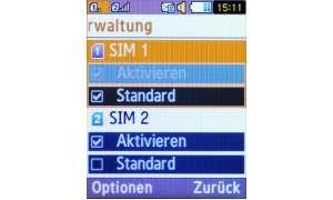 Samsung C5212 SIM-Verwaltung