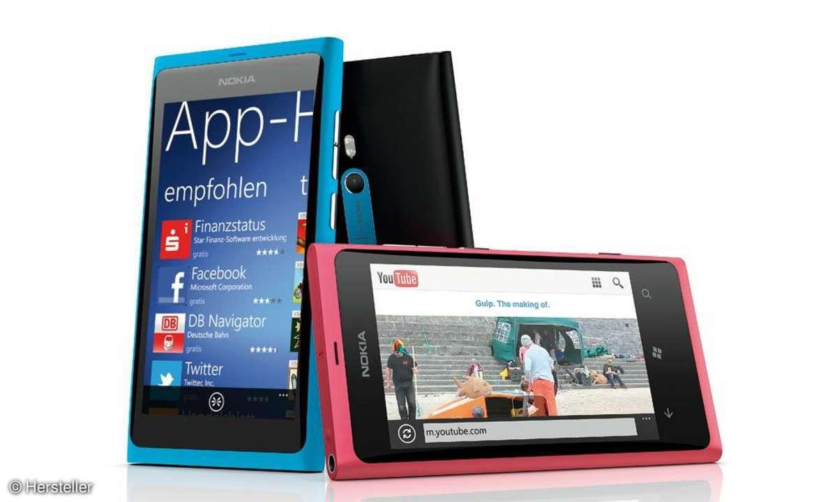 Nokia Lumia 800-Farbvarianten