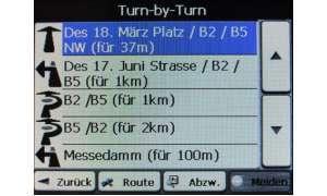 Turn-by-Turn-Ansicht