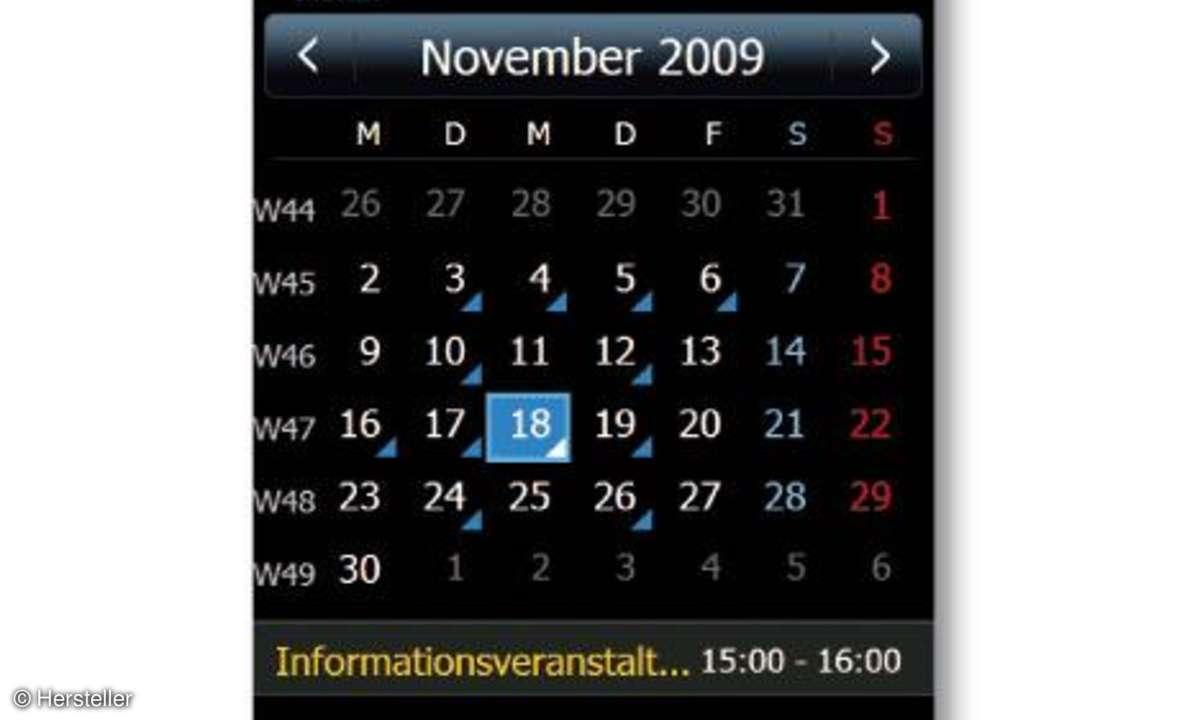 Samsung Omnia II Kalender