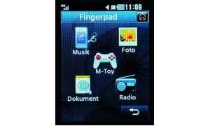Fingerpad-Funktion des KF750 Secret